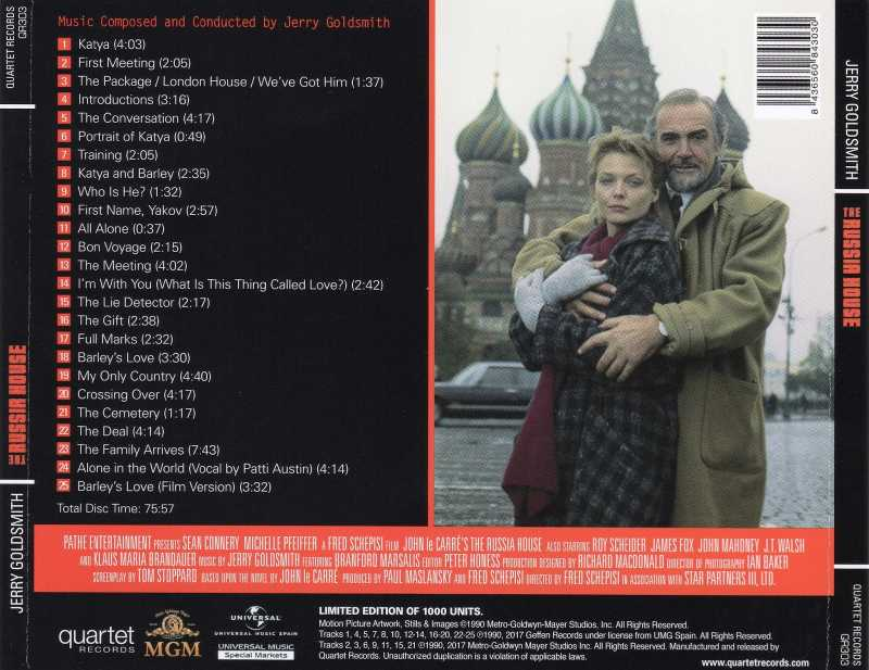 The Russia House - 1990 - Jerry Goldsmith - banda sonora - BSO News - the Movie Scores